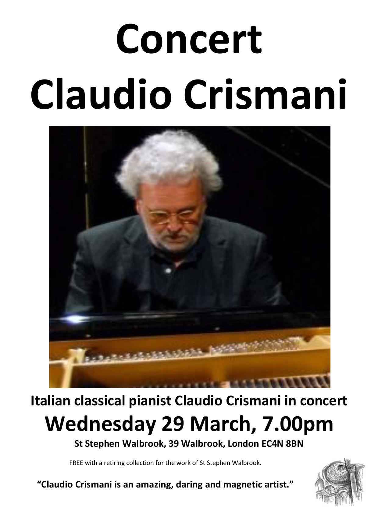 Flyer - Claudio Crismani Concert